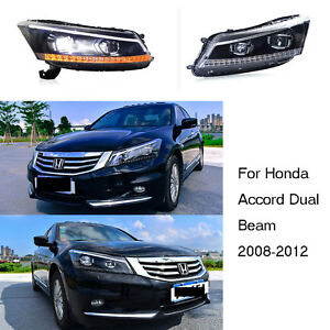 Led Headlights Drl Projector Front Lamps For Honda Accord Dual Beam 2008 2012