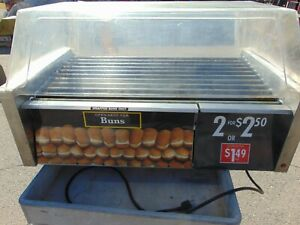 Star Grill max Roller Grills With Electronic Controls And Built in Bun Drawer