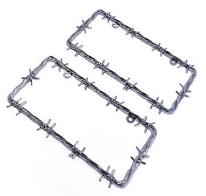 Chrome License Plate Frame 2 Pcs Set Brand New