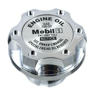 Chrome Oil Cap Filler Racing Billet Slv Mobil 1 5w 30 Emblem For Ls1 Ls2 Ls3 Ls6