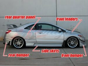 2006 2008 Honda Civic 2dr Coupe Gti Style Full Wide Body Kit By Ait Racing