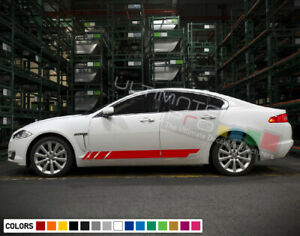 Sticker Decal Side Stripes For Jaguar Xf Racing Body Tune Performance Seat Sport