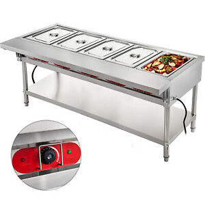 Vevor Commercial Steam Table Electric Steam Table 5 well Steam Table 3750w