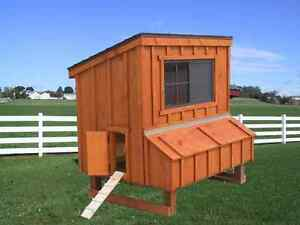 Chicken Coop Pa Dutch Amish Built Custom Pen Poultry Shed Hen House Nest Box New