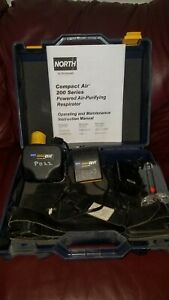 Honeywell North Ca201d Papr Respirator System with Hose Hood Hard Hat Etc