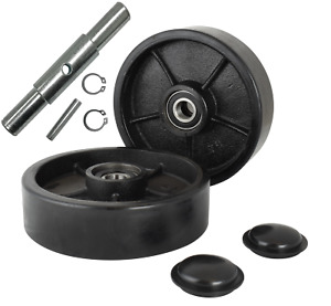 Pallet Jack truck Steering Wheels 7 Set With Axle Fasteners Protective Caps