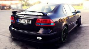 Rear Trunk Spoiler Wing Aero P performance For Saab 9 3 2003 2014