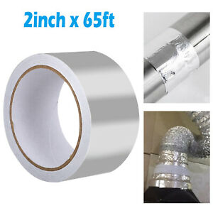 65 Ft X 2 Aluminum Foil Heat Shield Tape Hvac Heating A c Sealing Adhesive