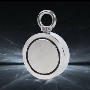 1700lbs Double sided Magnetic Salvage Fishing Strong Pulling Force Neodymium Tls
