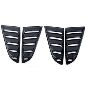 2pcs Car Quarter Side Rear Window Louvers Cover Fit For Ford Mustang 2015 2017