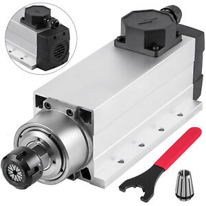 Cnc 4kw Air cooled Spindle Motor Er25 W square Edge 18000rpm 220v 10a Good