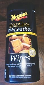 Meguiar s 25 Wipes Full Size Gold Class Rich Leather Care Wipes