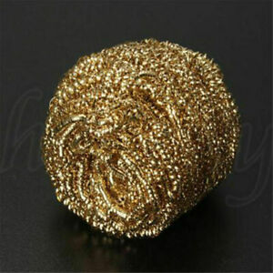 1pc Gold Soldering Iron Tip Cleaning Wire Cleaner Brass Sponge Ball Holder