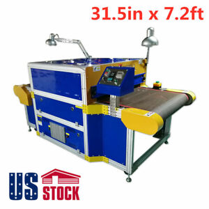 Usa 8kw 31 5in X 7 2ft Screen Printing Conveyor Tunnel Dryer 220v
