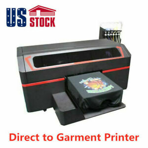 Single Station Direct To Garment Printer Dtg With 8 Industrial Heads Us Stock