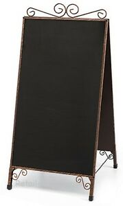 A frame Chalkboard Sign Copper Finish Double Sided Magnetic Sidewalk Business