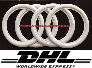 Hot Rod 20 New Rubber White Wall Tire Trims Port a wall set Of4