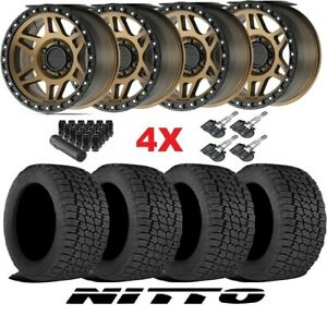 Method Mr312 Wheels Rims Tires Bronze 285 70 17 Nitto Terra Grappler G2 At