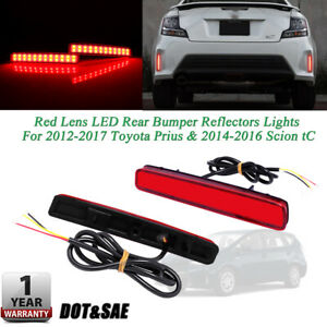 Red Rear Foglight Sequential Signal Led Tail Lamps For 14 16 Scion Tc Prius V