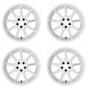 Work Emotion D9r 18x9 5 38 30 23 12 5x114 3 White Wht 4 Rims Wheels