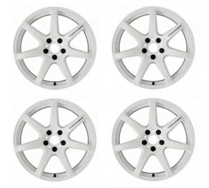 Work Emotion T7r 18x9 5 38 30 22 12 5x114 3 White Wht 4 Rims Wheels