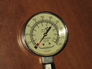 Sears And Roebuck Compression Tester Gauge 0 300