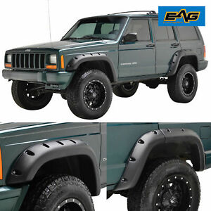 Eag Fit 84 01 Jeep Cherokee Xj 4pcs Rivet Style Abs Bolt On Pocket Fender Flares