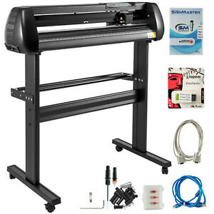 34 Vinyl Cutter Plotter Sign Cutting Machine W software Supplies