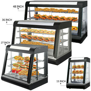 Commercial Food Warmer Pizza Warmer With Sliding Doors Pastry Warmer