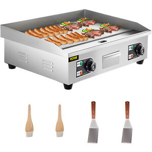 3000w 30 Commercial Electric Countertop Griddle Flat Top Grill Hot Plate Bbq