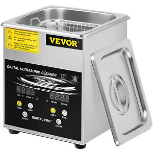 New 2l Ultrasonic Cleaner Stainless Steel Industry Heated Heater W timer