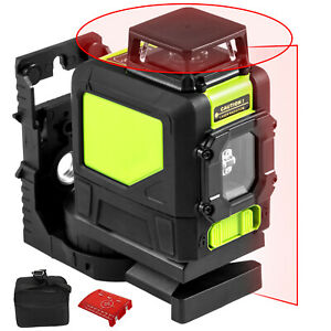 Rotary Laser Level Kit Self leveling 5 Line Red Beam 98 Range 3d Cross 360