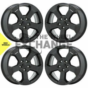 20 Jeep Grand Cherokee Black Wheels Rims Factory Oem 2019 2020 Set 4 9211