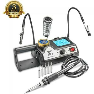 Wep 927 i st Soldering Iron Station W 2 Helping Hands 5 Extra Tips Esd Safe