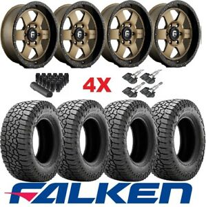 Fuel Wheels Rims Tires Bronze 265 70 18 Falken Wildpeak A T3w Method Rhino