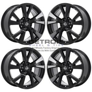 18 Nissan Maxima Gloss Black Exchange Wheels Rims Factory Oem 62721 2008 2020