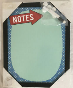Magnetic Dry Erase Board 11 X 14 Inches Black Frame Blue Board Notes Arrow Rare