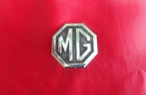 Mg Mgb Mg Midget Black Chrome Bumper Metal Badge Emblem Pt No Cha344