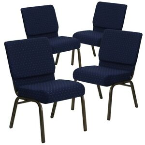 4 Pk Hercules Series 21 Extra Wide Navy Blue Dot Patterned Fabric