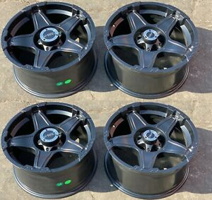 18 Black Wheels Rims Off Road Wrangler Ranger