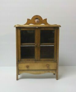 Vintage Miniature Child S Country Cupboard Hutch C Early 20th C