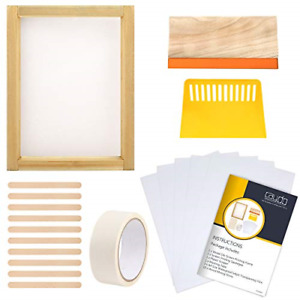 20 Pieces Screen Printing Starter Kit Include 14 Inch Wood Silk Screen Printing