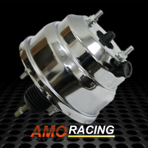 8 Dual Universal Chrome Power Brake Booster Muscle Car Fit Hot Rod Rat Rod Us
