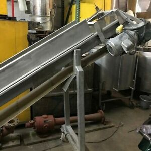 Incline Conveyor Stainless Steel 69 Discharge Height