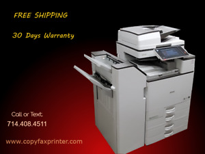 Ricoh Mp C6003 Color Copier Printer Scanner With Stapling Finisher