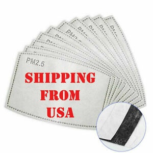 Bulk Pack Adult Pm2 5 Activated Carbon 5 Layer Face Mask Replacement Filters Usa