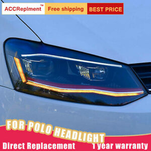 For Volkswagen Polo Headlights Assembly Led Lens Projector Led Drl 2012 2018