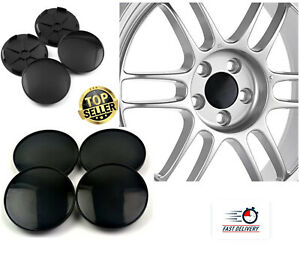4x68mm Universal Black Wheel Tire Center Blank Replacement Hub Caps Cover