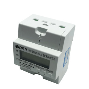 Wifi Smart Electric Energy Meter Single Phase Din Rail 5 60 a 110v 220v With