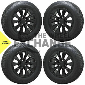 20 Silverado 1500 Truck Black Wheels Rims Tires Factory Oem 2019 2020 2021 5916
